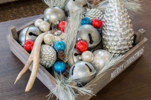 Try using natural objects for indoor holiday decorations.