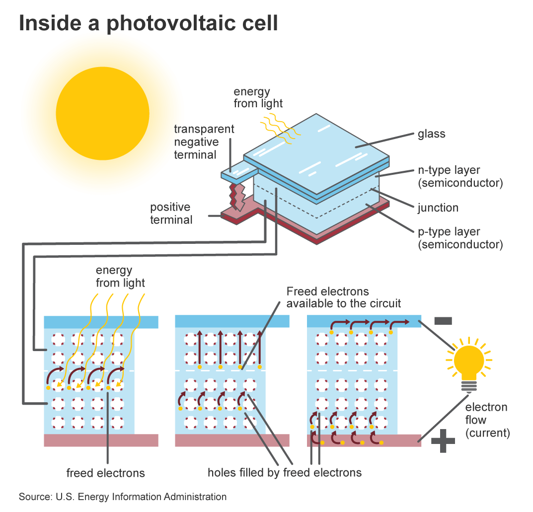 Solar panels are also known as photovoltaic cells.